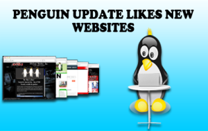 Penguin update likes new websites